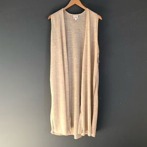 New Lularoe Sz L Joy Semi Sheer Long Duster Vest